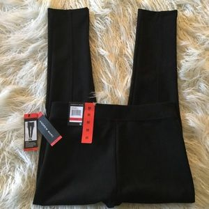 Andrew Marc Black Faux Suede Pants NWT